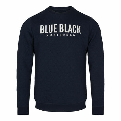 BlueBlack Sweater Mathijs IndigoBlue detail