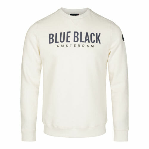 BlueBlack Sweater Milan OffWhite detail