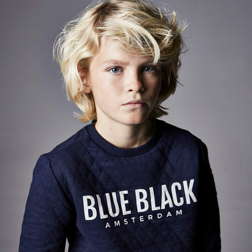 BlueBlack Sweater Mathijs IndigoBlue Front