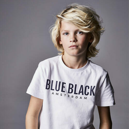 T Shirt Blueblack Tristan White