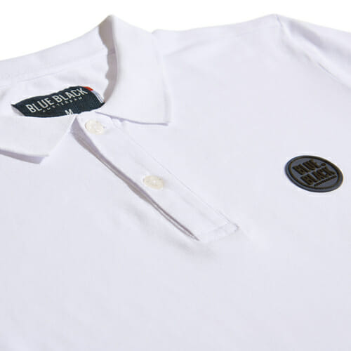 BlueBlack Polo Lasse White Chest