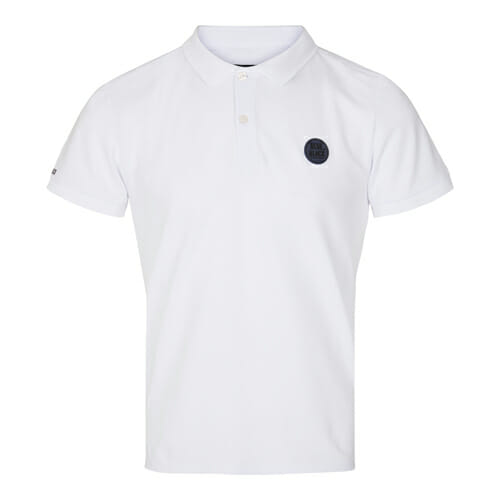 BlueBlack Polo Lasse White Front