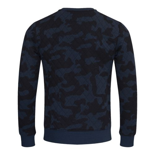BlueBlack Sweater MATHIJS 2.0 Blauwe Camouflage back
