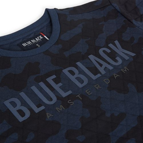 BlueBlack Sweater MATHIJS 2.0 Blauwe Camouflage detail