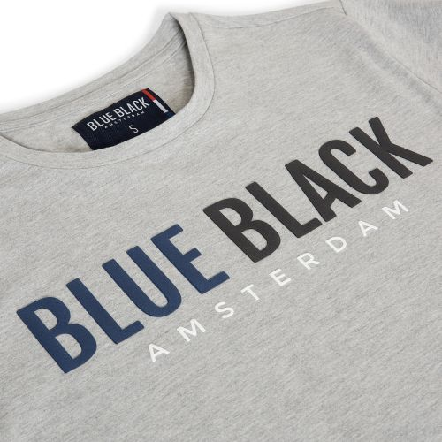 BlueBlack T-shirt Tony Grijs Melange detail