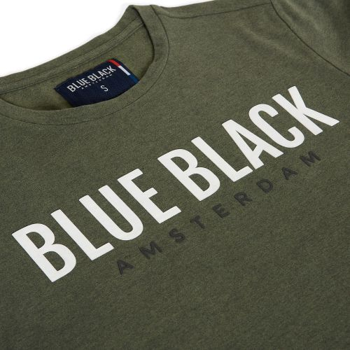 BlueBlack T-shirt Tony Groen Melange detail