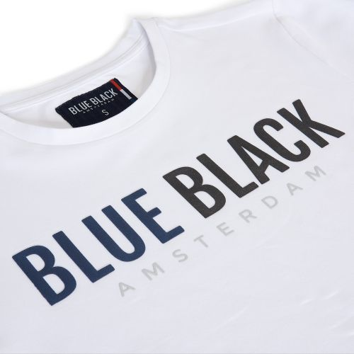 BlueBlack T-shirt Tony wit detail