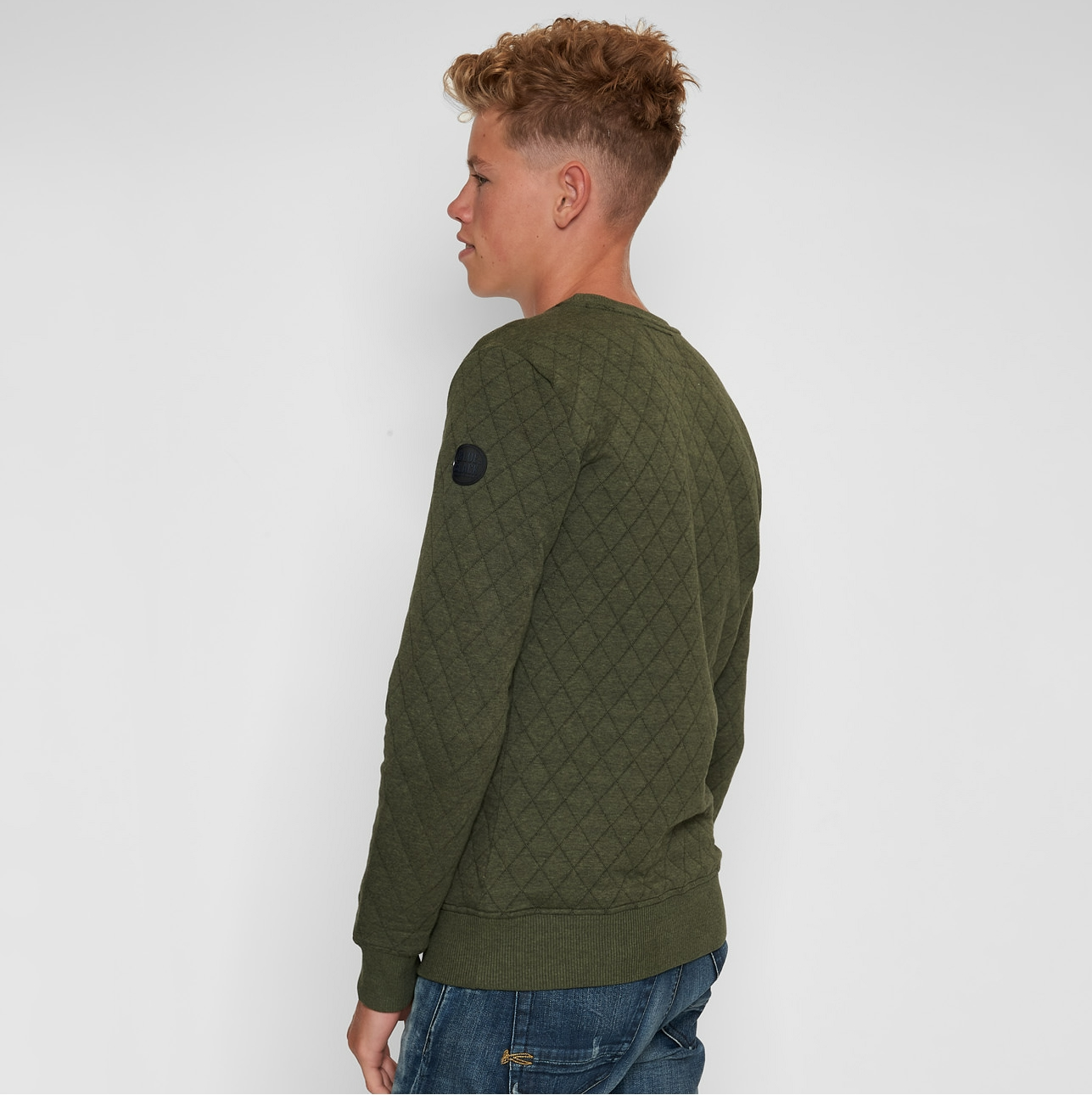 BlueBlack Sweater MATHIJS 2.0 Groen Melange back